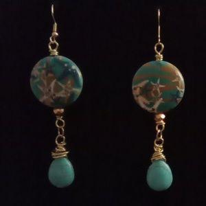 Beachy Turquoise Earrings. Cute!!